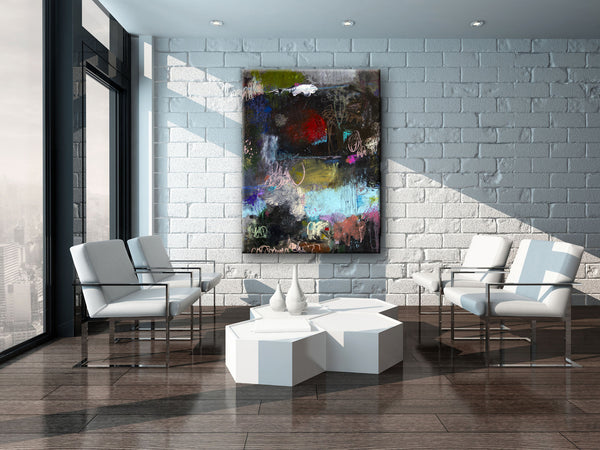 ABSTRACT ART Canvas Print of When All I Want is Just the Truth