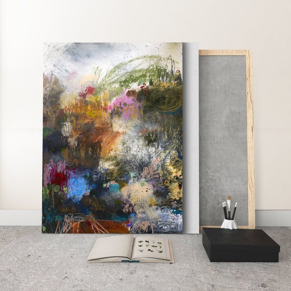 ABSTRACT ART Canvas Print of The Bed You've Made