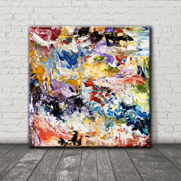 ABSTRACT ART Canvas Print of Wish List VII