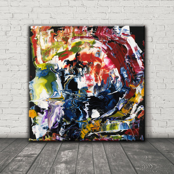 ABSTRACT ART Canvas Print of Wish List IX