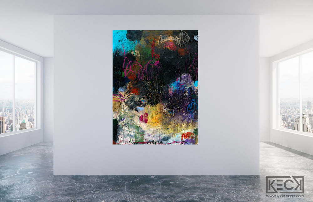 Load image into Gallery viewer, LARGE ABSTRACT CANVAS ART PRINTS BY MICHEL KECK