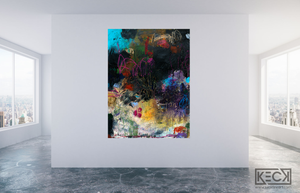 LARGE ABSTRACT CANVAS ART PRINTS BY MICHEL KECK