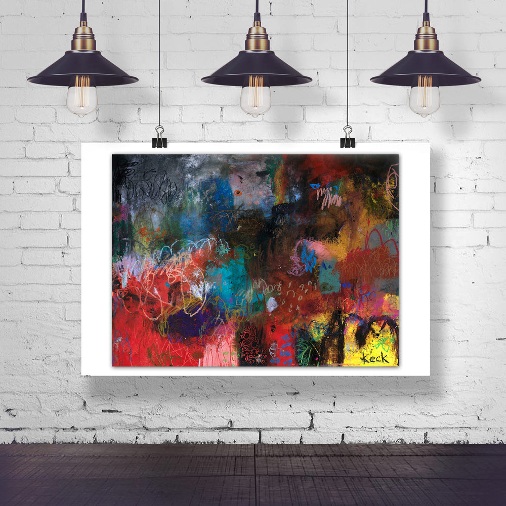 ABSTRACT ART Canvas Print of Why are You Crying