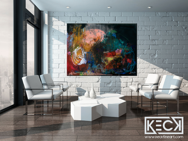 BEAUTIFUL COLORFUL ABSTRACT ART BY MICHEL KECK