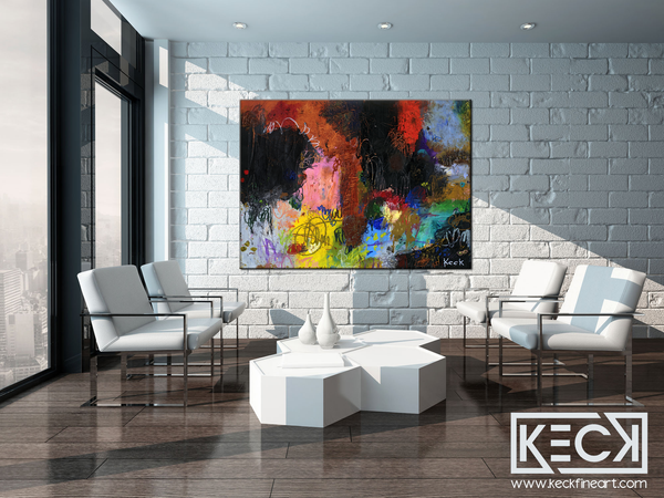 Large and COLORFUL Abstract Art