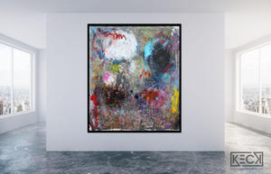 Large Colorful Abstract Paintings Big Colorful Mixed Media Abstract Paintings