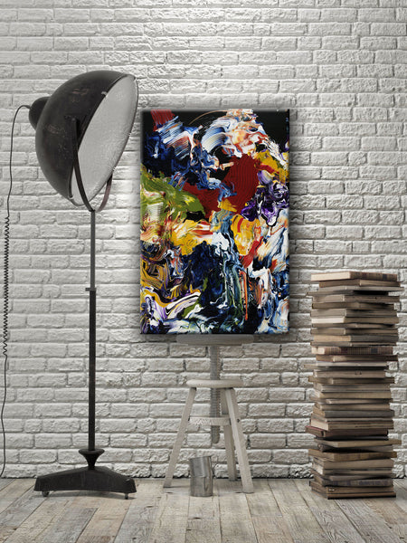 ABSTRACT ART Canvas Print of Wish List XIII