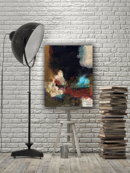 ABSTRACT ART Canvas Print of You Think You Know Somebody