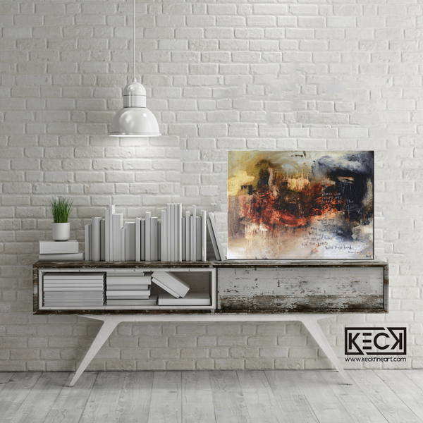 religious abstract art prints with scripture / verse from the bible