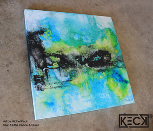 blue and green abstract art paintings