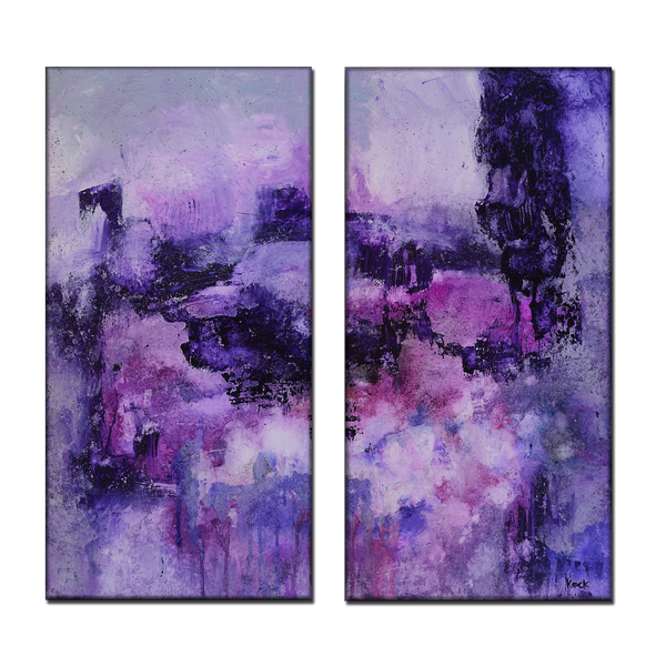 #071818 <br> One Thing Leads To Another <br> Diptych <br> Canvas Art Print