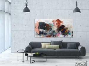 New Way<br> Original Abstract  on Canvas <br> by Michel Keck