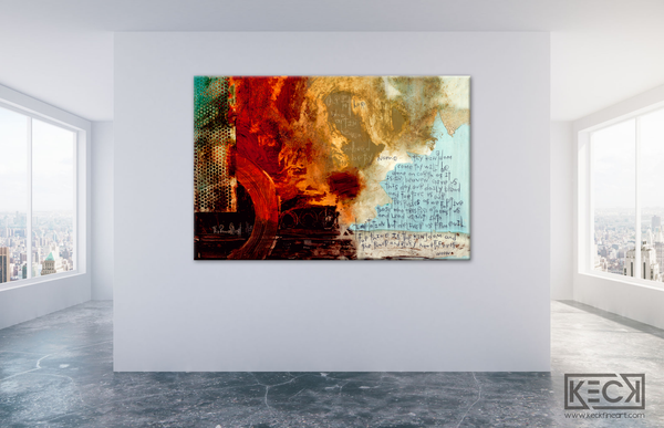 Large Abstract Paintings and Prints with The Lord's Prayer