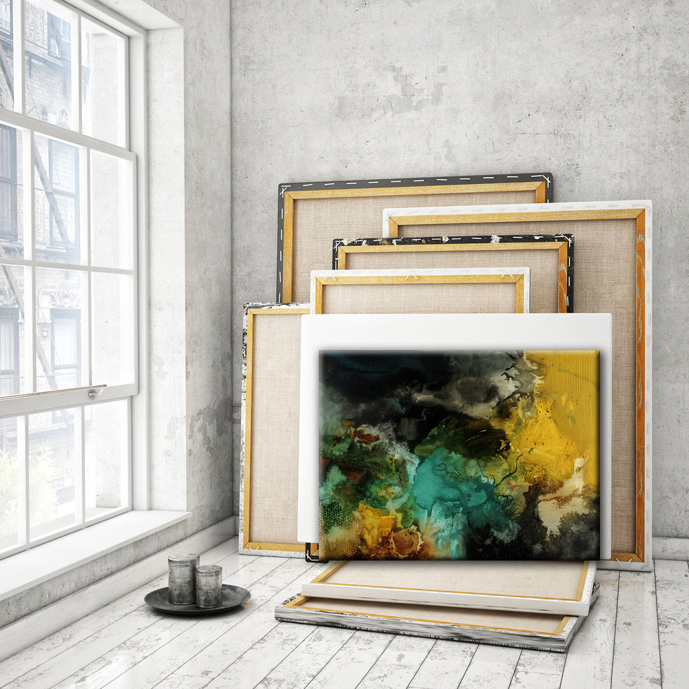 ABSTRACT ART Canvas Print of You Might Just Get What You Wanted