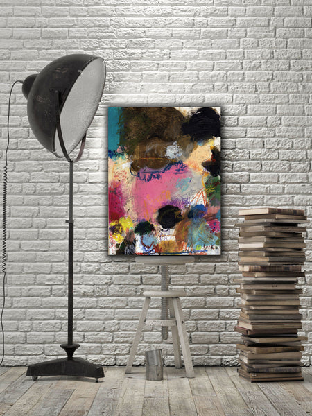 ABSTRACT ART Canvas Print of Who's Coming With Me