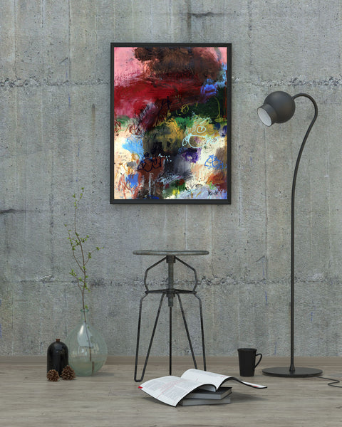 ABSTRACT ART Canvas Print of Who I am Isn't Who I Use to Be