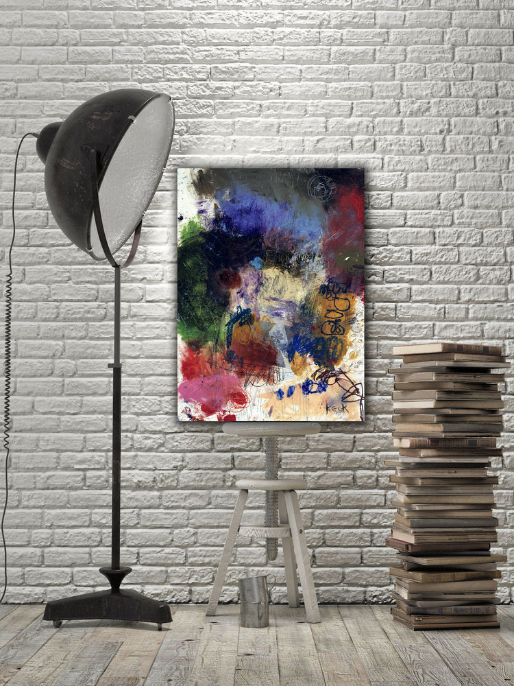 ABSTRACT ART Canvas Print of That Said it All