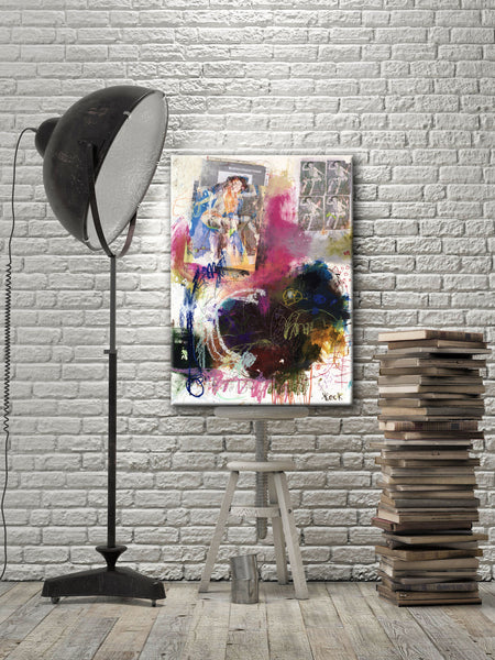 #081217 <br> Shoppin for a New Distraction <br> Canvas Art Print