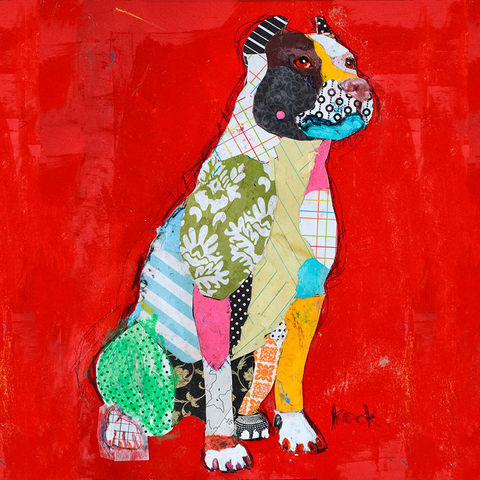 Pit Bull Dog Art by Michel Keck