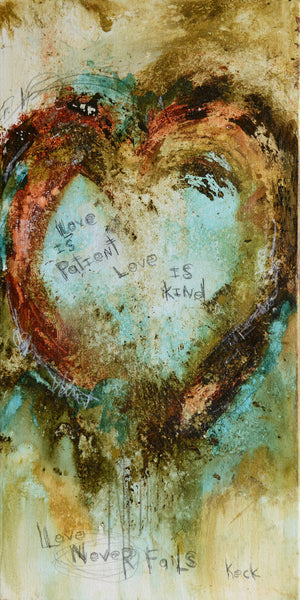 Load image into Gallery viewer, Original 1 CORINTHIANS 13 LOVE IS PATIENT # 081602
