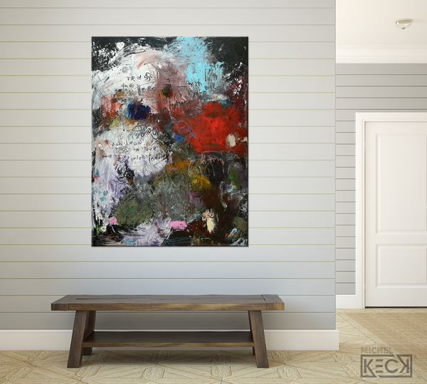 Scripture Abstract Art Print <br> 2020 Collection <br> title: With All Your Heart