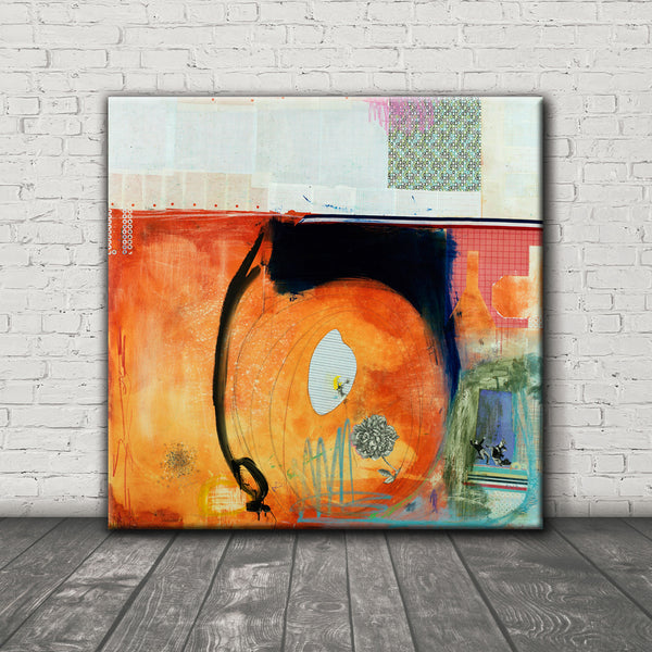 MIXED MEDIA Canvas Print of Beg To Differ