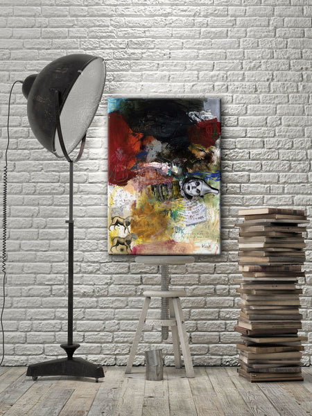 MIXED MEDIA ART Canvas Print of Leap After Leap