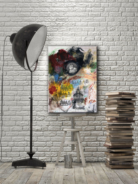 MIXED MEDIA ART Canvas Print of Time Waits for No One