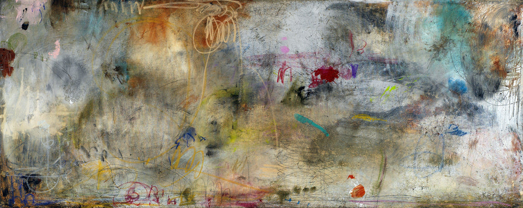ABSTRACT ART Canvas Print of WHEN THE GOING GETS ROUGH #101004
