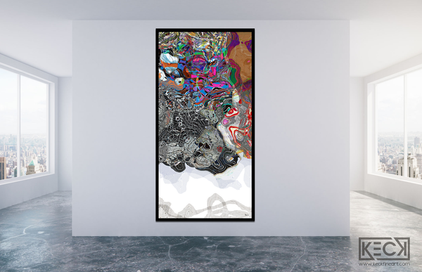 #101714 <br> Down The Rabbit Hole Series<br> Where Do You Want To End Up?<br> Canvas Art Print