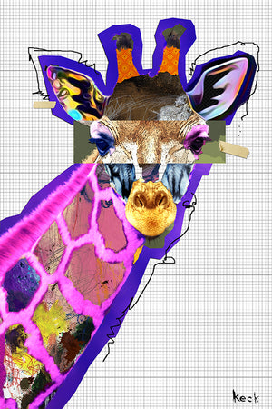 Load image into Gallery viewer, giraffe art