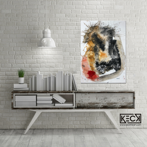 Abstract Canvas Art Print <br>2019 Collection <br>Title:  Try Me <br> Michel Keck