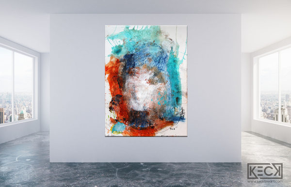 Abstract Canvas Art Print <br>2019 Collection <br>Title: Walk Me Home <br> Michel Keck