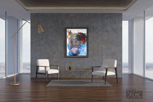 Original Abstract Painting <br>on Fine Art Paper<br>2019 Collection <br>Title:  Finding Joy<br> Michel Keck