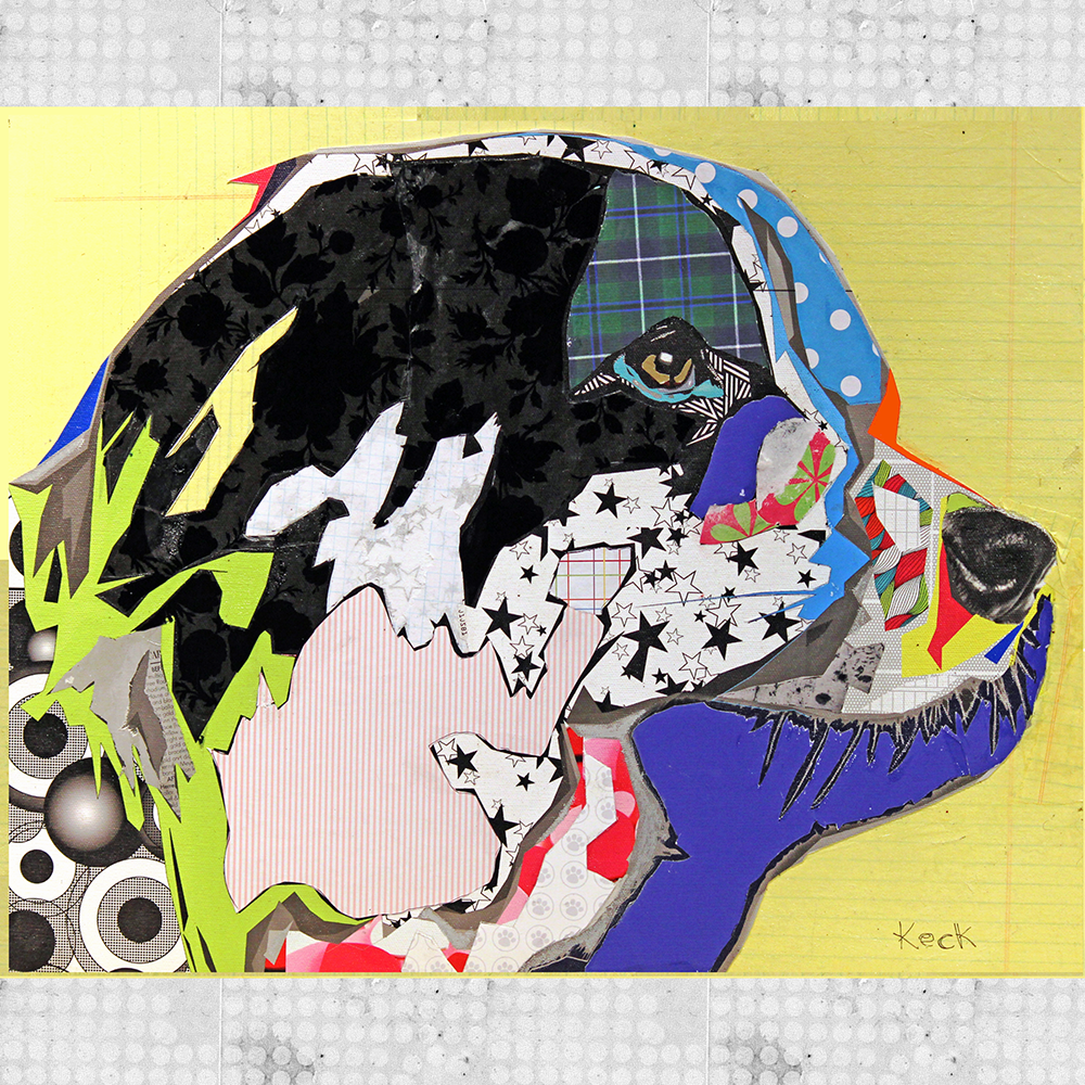 Border Collie Art. Border collie paintings and prints. Border collie colorful art creations.