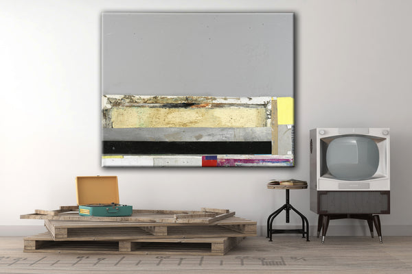 MIXED MEDIA ART Canvas Print of The Skys The Limit