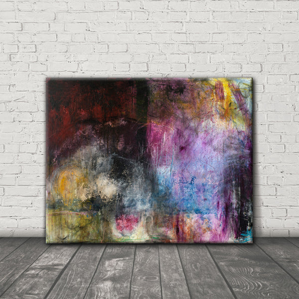 ABSTRACT ART Canvas Print of What Was I Thinking?