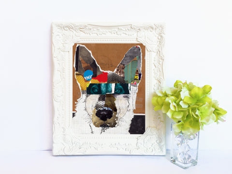 Dog Art of German Shepherd I on Paper Print