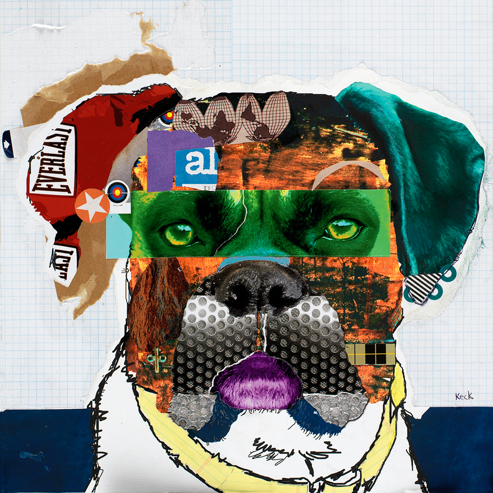 Boxer Dog Art. Colorful Abstract Boxer Dog art prints.