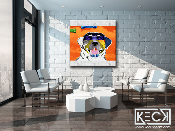 Large art print of Labrador Retriever. Labrador retriever pop art. Labrador retriever dog art. colorful labrador dog art