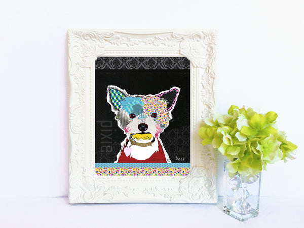 Dog Art of Yorkshire Terrier III on Paper Print