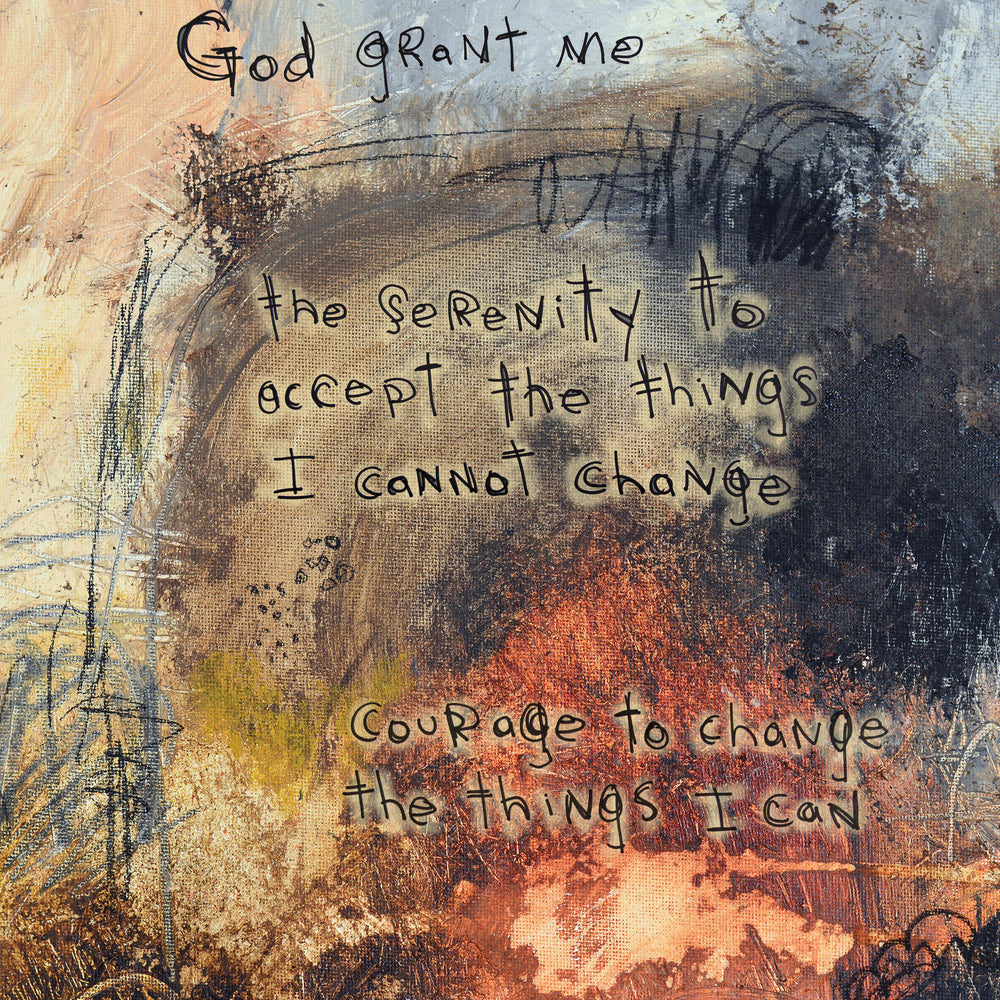 #111504 <br> Serenity Prayer <br> Canvas Art Print