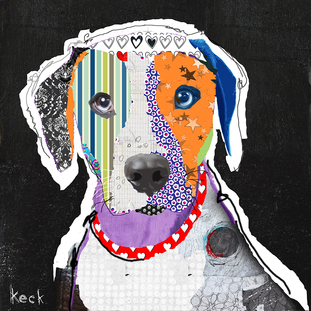 Catahoula Leopard Art Prints. Catahoula abstract art.  Catahoula collage art.