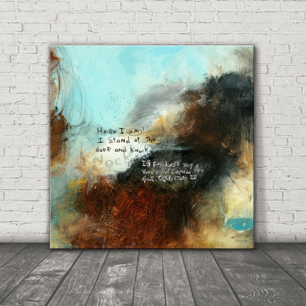 SCRIPTURE ART 111512 Revelation 3:20 Canvas Print
