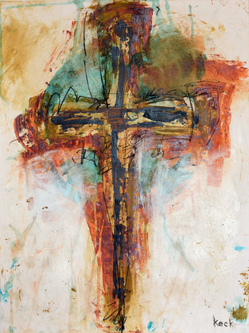 Scripture cross canvas prints michel keck for Cross paintings on canvas