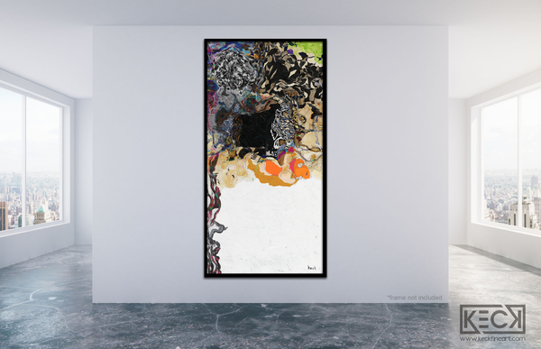 #111705<br> Down The Rabbit Hole Series<br> It Would Be So Nice If Something Made Sense For A Change<br> Canvas Art Print