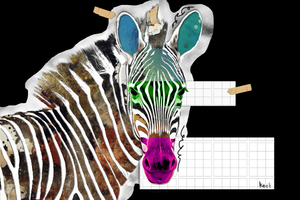 Load image into Gallery viewer, zebra art print