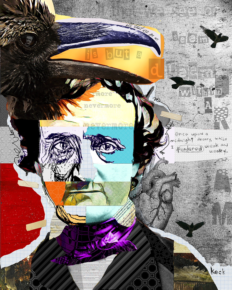 Load image into Gallery viewer, edgar allan poe art