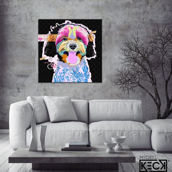 #111904 <br> CavaPoo <br> Canvas Art Print