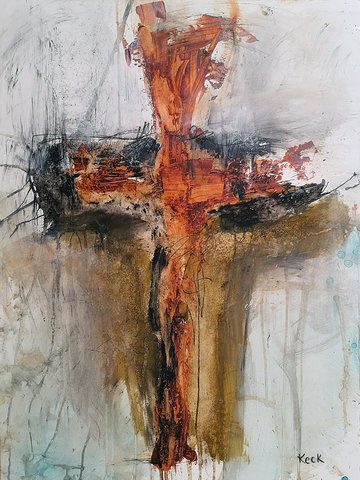 abstract cross art - spiritual abstract cross paintings